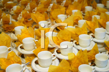 Royalty Free Photo of Cups and Saucers
