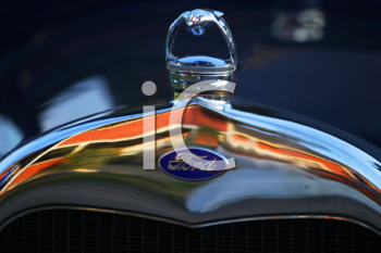 Royalty Free Photo of a Car Hood Ornament