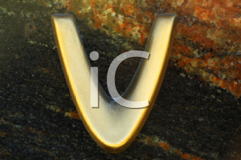 Royalty Free Photo of the Letter V