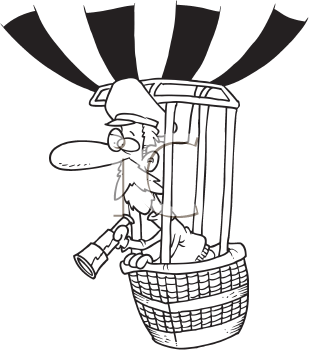 Royalty Free Clipart Image of a Balloonist
