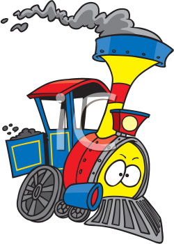 Royalty Free Clipart Image of a Train Engine