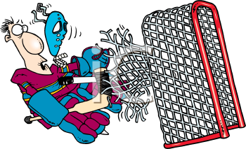 Royalty Free Clipart Image of a Goaltender