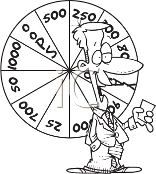 Royalty Free Clipart Image of a Game Show Host