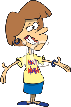Royalty Free Clipart Image of a No. 1 Mom