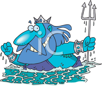 Royalty Free Clipart Image of Neptune