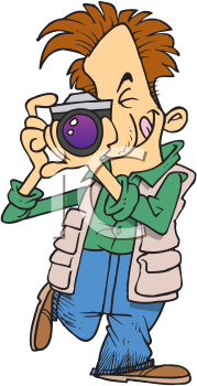 Royalty Free Clipart Image of a Man Taking a Picture