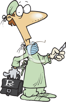 Royalty Free Clipart Image of a Surgeon