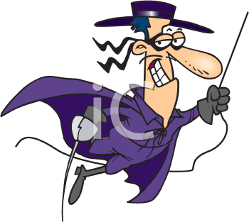 Royalty Free Clipart Image of a Swashbuckler
