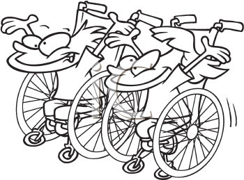 Royalty Free Clipart Image of a Wheelchair Race
