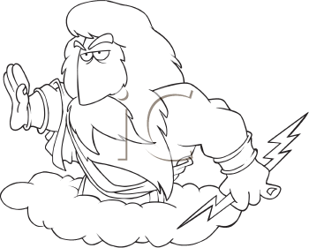 Royalty Free Clipart Image of a Zeus