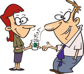 Royalty Free Clipart Image of a Couple Talking