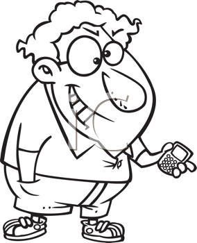 Royalty Free Clipart Image of a Guy With a Remote