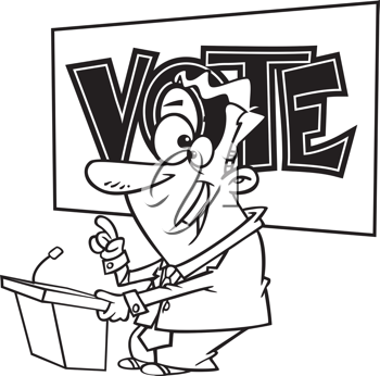 Royalty Free Clipart Image of a Politician