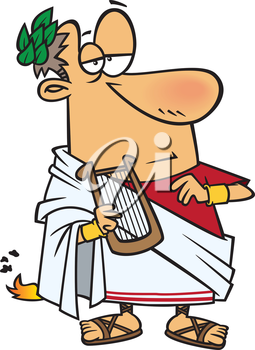 Royalty Free Clipart Image of an Ancient Roman