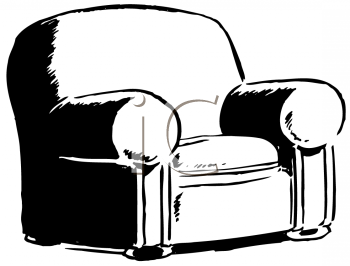 Royalty Free Clipart Image of an Easy Chair