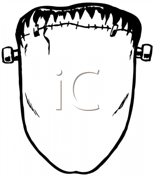Royalty Free Clipart Image of Frankenstein's Face
