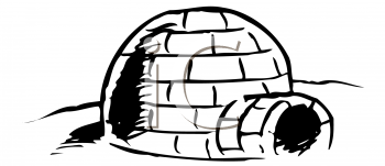 Royalty Free Clipart Image of Igloo