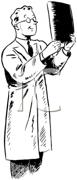 Royalty Free Clipart Image of a Lab Tech