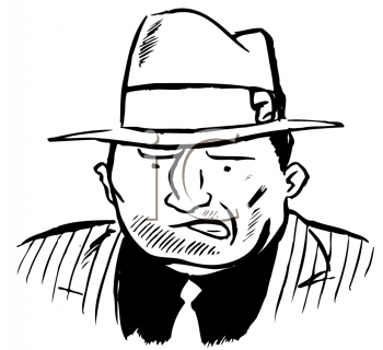 Royalty Free Clipart Image of a Gangster