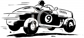 Royalty Free Clipart Image of a Race Car