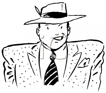 Royalty Free Clipart Image of a Mobster