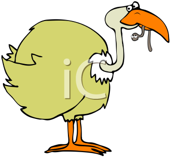 Royalty Free Clipart Image of a Bird With a Worm