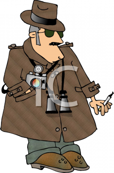 Royalty Free Clipart Image of a Private Eye