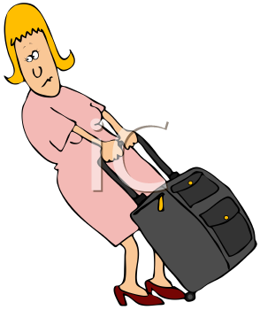Royalty Free Clipart Image of a Female Traveler