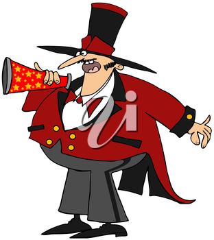 Royalty Free Clipart Image of a Ringmaster