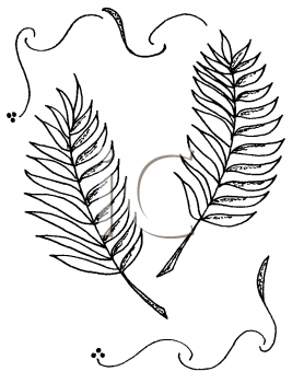 Royalty Free Clipart Image of Palm Leaves