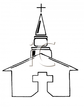 Royalty Free Clipart Image of a Church