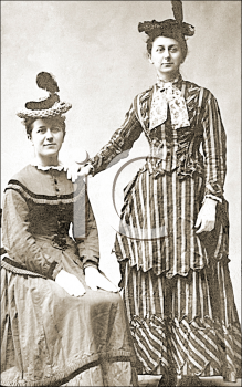 Royalty Free Photo of Two Victorian Women