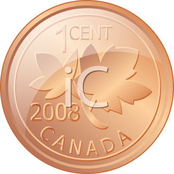 Royalty Free Clipart Image of a Penny