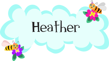 Royalty Free Clipart Image of a Name Tag For Heather