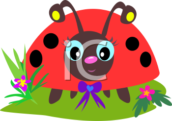 Royalty Free Clipart Image of a Ladybug