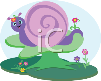 Royalty Free Clipart Image of a Snail