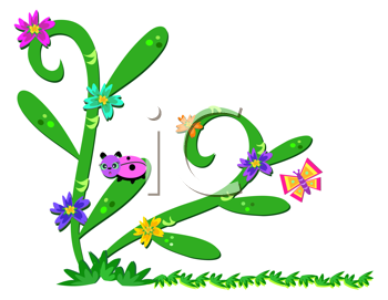 Royalty Free Clipart Image of Bugs on a Plant