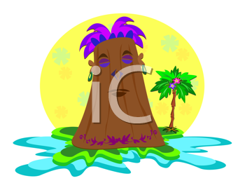Royalty Free Clipart Image of a Tiki Hut
