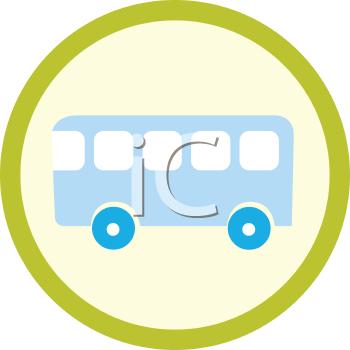 Royalty Free Clipart Image of a Bus Sign