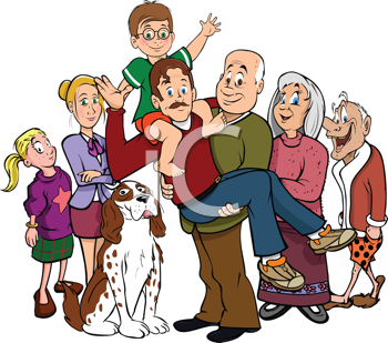 Royalty Free Clipart Image of a Family Portrait