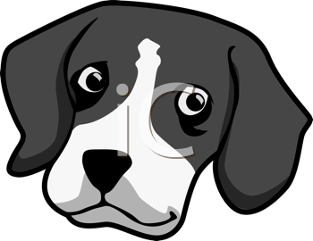 Royalty Free Clipart Image of a Beagle's Face