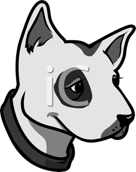 Royalty Free Clipart Image of a Bull Terrier