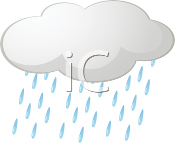 Royalty Free Clipart Image of a Raincloud