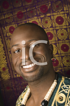 Portrait of smiling mid-adult African-American man.