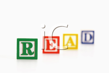 Royalty Free Photo of Alphabet Toy Building Blocks Spelling the Word Read