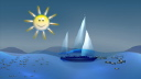 Royalty Free HD Video Clip of a  Sailboat Sailing on a Sunny Day