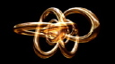 Royalty Free Video of a Twisted Tube