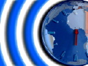 Royalty Free Video of a Clock on a Globe