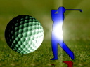Royalty Free Video of a Golfer and Ball