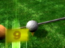 Royalty Free Video of a Golf Ball on a Tee With a Club Beside It